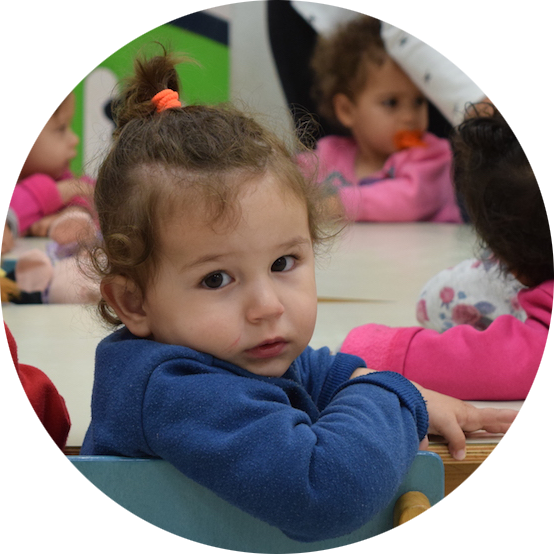 Child at a daycare center in Israel