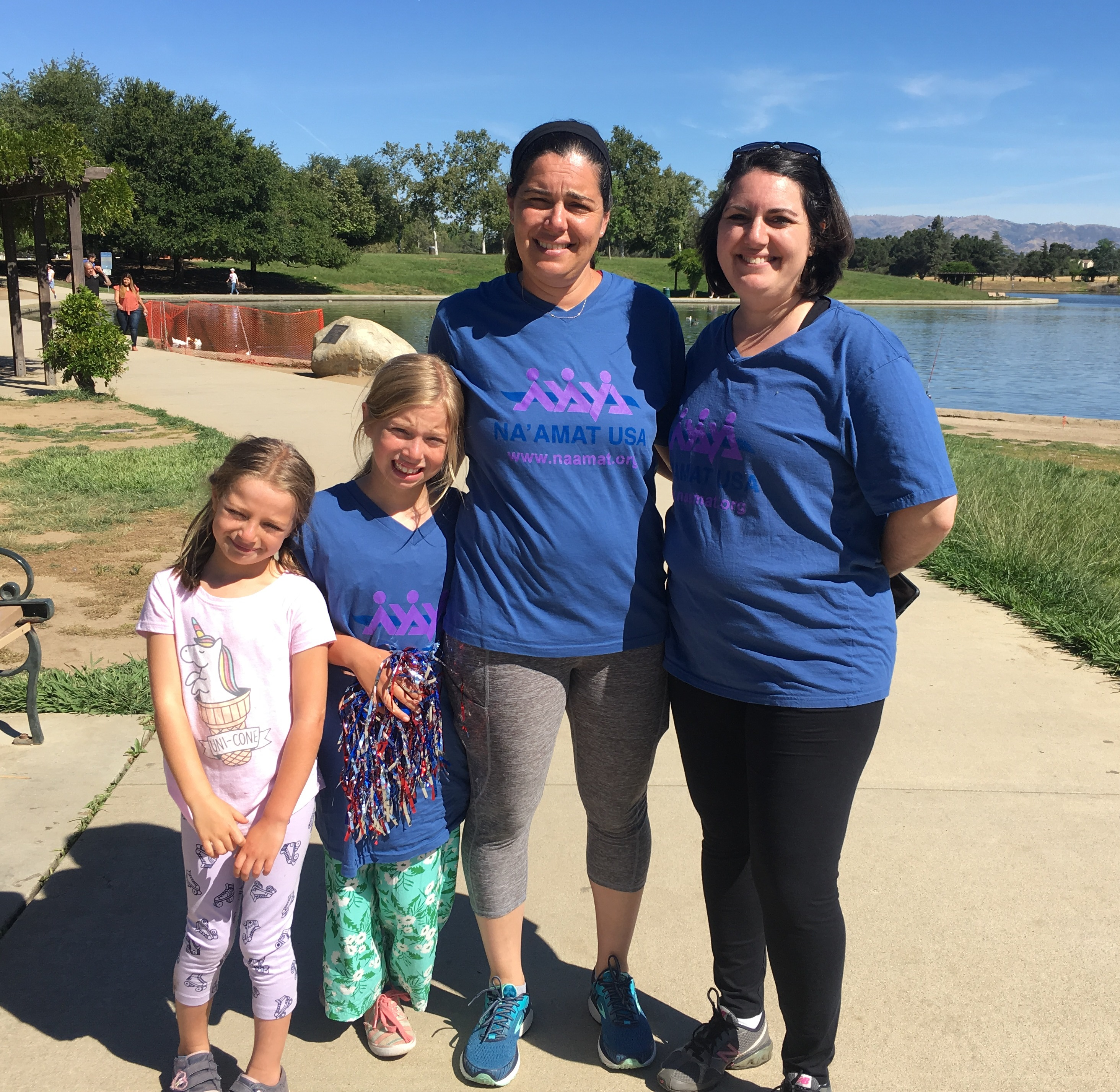 Community organization supporting Israel and women's rights - family walking in a 5K