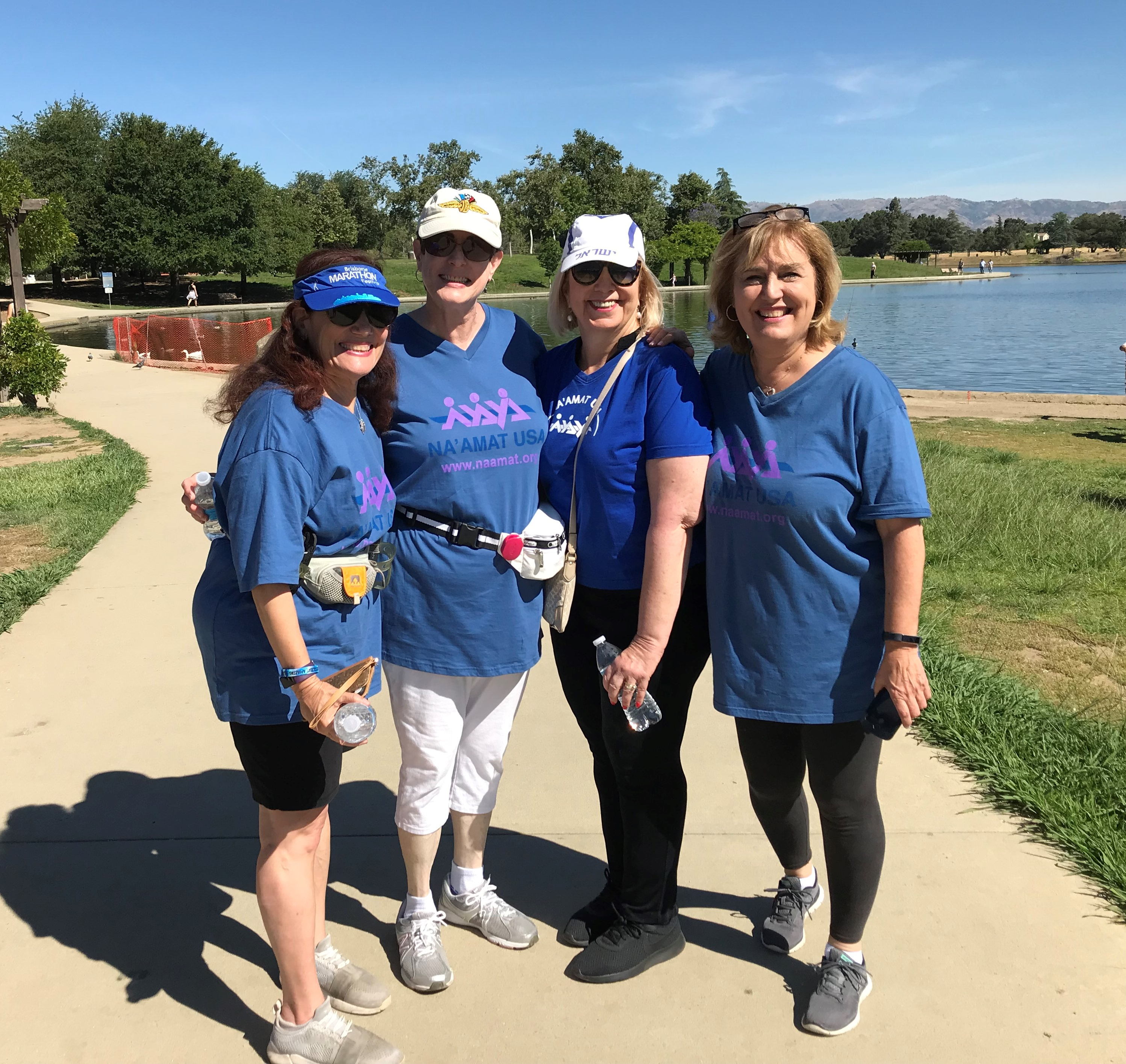 Jewish Women's Group walking together at the 5K